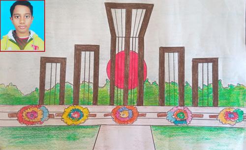 চিত্রকর : মোসাদ্দেক সামাদ, শ্রেণী : চতুর্থ, এবিসি স্কুল রাজশাহী।